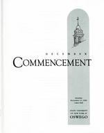 1996 - December - AM - Commencement - SUNY Oswego