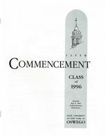 1996 - May - AM - Commencement - SUNY Oswego