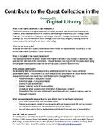 Contribute to the Quest Collection in the Oswego Digital Library
